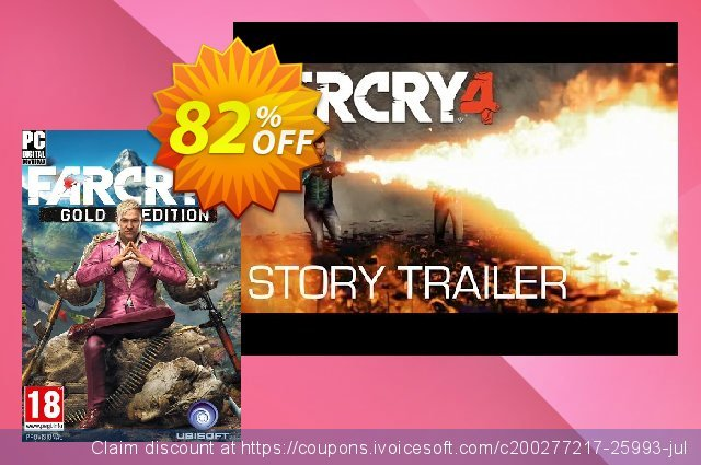 Far Cry 4 Gold Edition PC discount 70% OFF, 2020 Thanksgiving sales