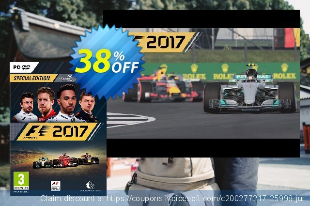 F1 2017 PC discount 93% OFF, 2020 Black Friday offering sales