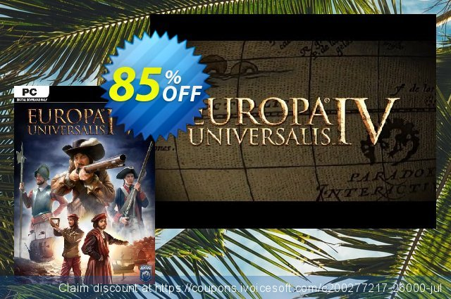 Europa Universalis IV 4 PC discount 80% OFF, 2020 Thanksgiving Day promo sales