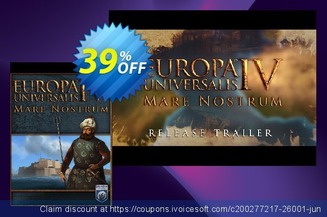 Europa Universalis IV 4 PC Mare Nostrum DLC discount 39% OFF, 2020 Christmas Day offering sales