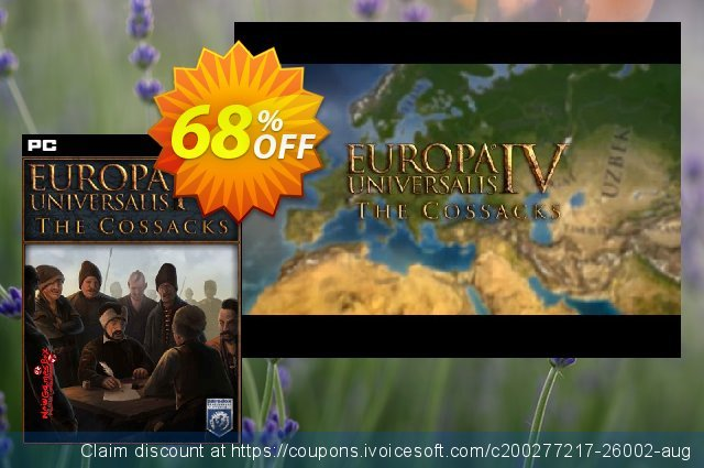 Europa Universalis IV 4 PC Cossacks DLC discount 68% OFF, 2020 Thanksgiving offering sales