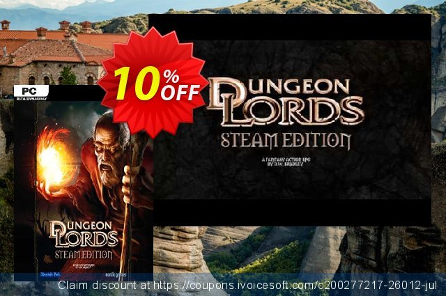 Dungeon Lords Steam Edition PC discount 10% OFF, 2020 Thanksgiving Day sales