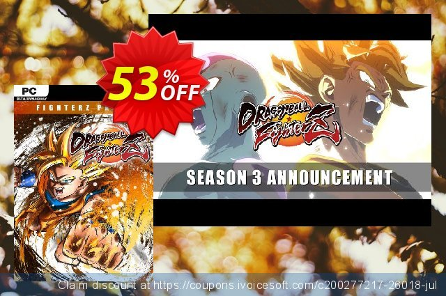 Dragon Ball Fighter Z - FighterZ Pass 3 PC discount 18% OFF, 2020 Thanksgiving Day offering deals