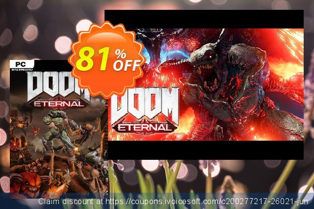 DOOM Eternal PC discount 46% OFF, 2021 Valentines Day sales