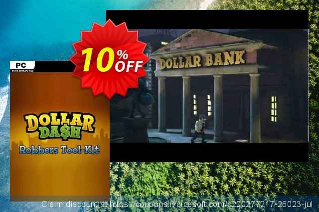 Dollar Dash Robber's Toolkit DLC PC discount 10% OFF, 2020 Thanksgiving offering sales