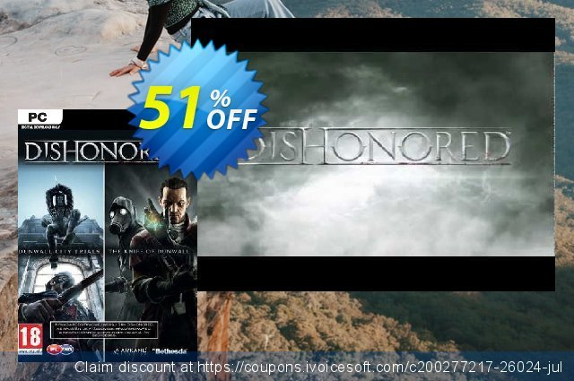 Dishonored PC DLC Double Pack Dunwall City Trials and The Knife of Dunwall 驚きの連続  アドバタイズメント スクリーンショット