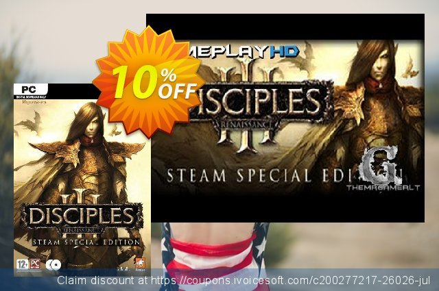 Disciples III Renaissance Steam Special Edition PC discount 10% OFF, 2020 Thanksgiving offering sales