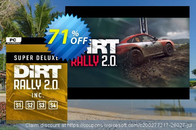 Dirt Rally 2.0 - Super Deluxe Edition PC discount 71% OFF, 2021 New Year offering sales