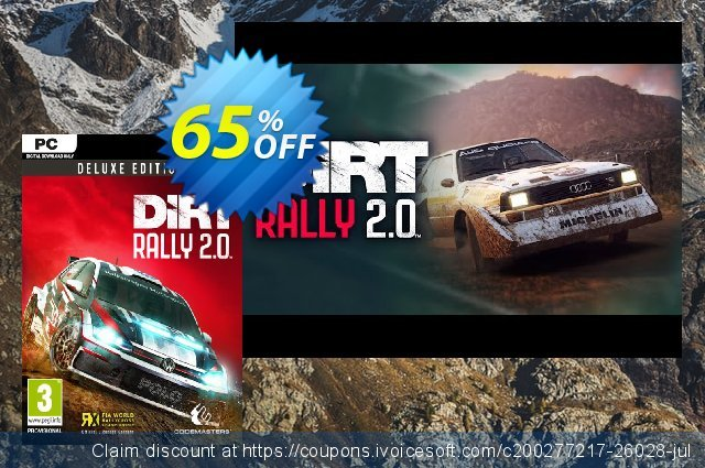 DiRT Rally 2.0 Deluxe Edition PC discount 77% OFF, 2021 New Year's Day offering deals