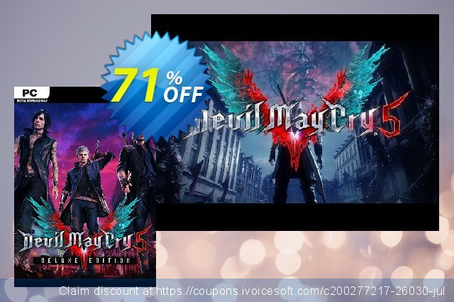 Devil May Cry 5 Deluxe Edition PC discount 65% OFF, 2020 Thanksgiving Day promotions