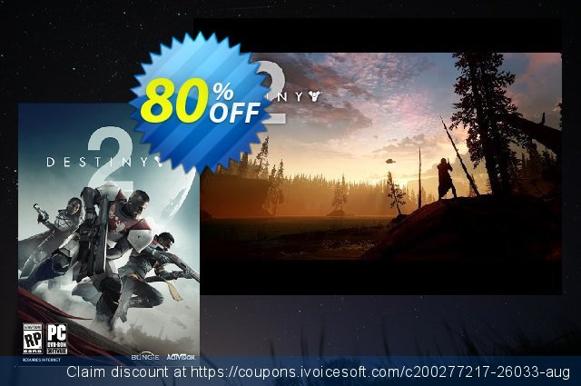 Destiny 2 PC discount 80% OFF, 2020 Thanksgiving Day offer