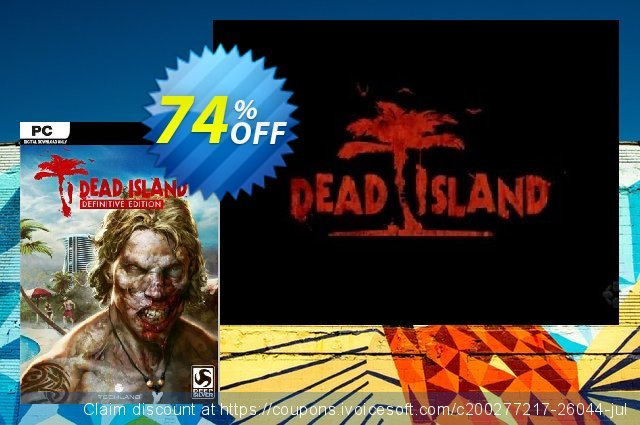 Dead Island Definitive Edition PC discount 42% OFF, 2020 Thanksgiving offering sales