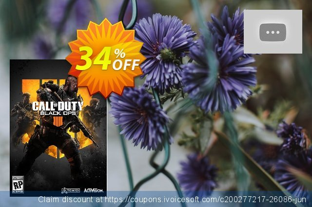 Call of Duty (COD) Black Ops 4 PC + 1100 Call of Duty Points (APAC) discount 34% OFF, 2020 Back to School Promos offering sales
