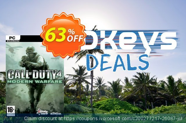 Call of Duty 4 (COD): Modern Warfare PC discount 10% OFF, 2020 Thanksgiving Day promotions