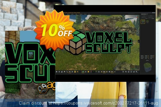 Axis Game Factory's AGFPRO Voxel Sculpt DLC PC discount 10% OFF, 2021 New Year offering sales