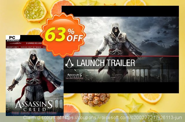 Assassin's Creed The Ezio Collection PC discount 72% OFF, 2020 Back to School deals discount