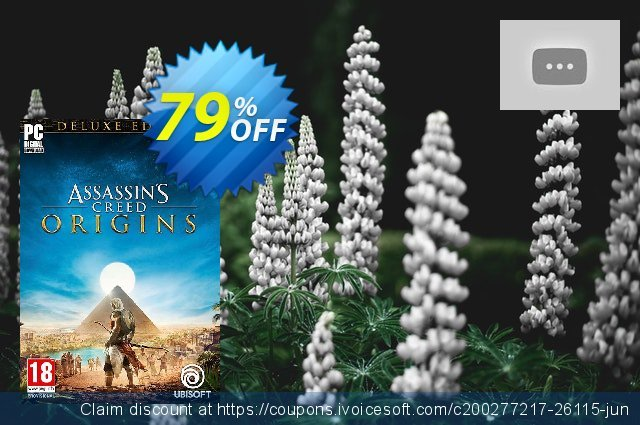 Assassins Creed Origins Deluxe Edition PC + DLC discount 75% OFF, 2020 Back to School coupons offering deals