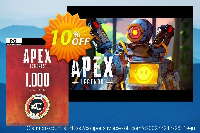 Apex Legends 1000 Coins VC PC discount 10% OFF, 2020 Thanksgiving offering sales