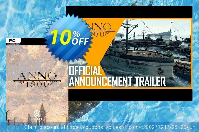 Anno 1800 DLC PC discount 80% OFF, 2020 Thanksgiving Day offering sales