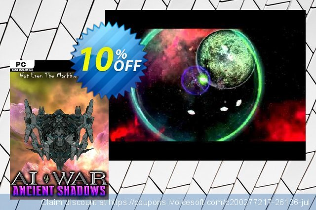 AI War Ancient Shadows PC discount 10% OFF, 2020 Black Friday offering sales