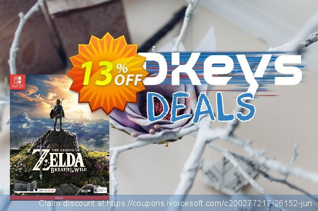 The Legend of Zelda - Breath of the Wild Switch discount 10% OFF, 2020 Thanksgiving promo sales