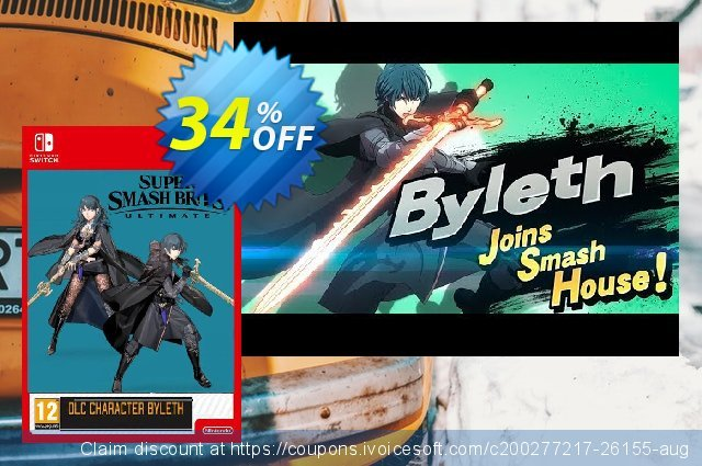 Super Smash Bros. Ultimate: Byleth Challenger Pack 5 Switch discount 36% OFF, 2021 Happy New Year sales