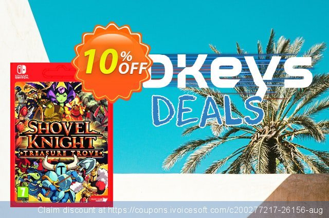 Shovel Knight Treasure Trove Switch discount 10% OFF, 2021 January deals