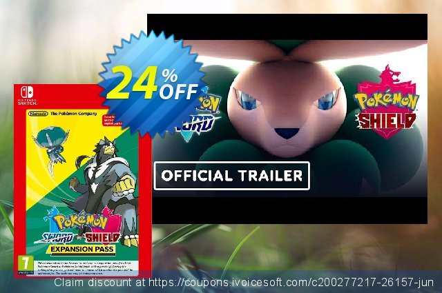 Pokemon Sword and Shield Expansion Pass Switch discount 20% OFF, 2021 Happy New Year offer