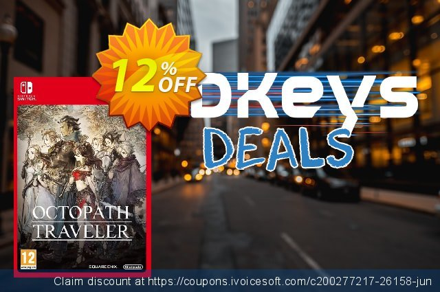 Octopath Traveler Switch discount 20% OFF, 2020 Thanksgiving offering sales