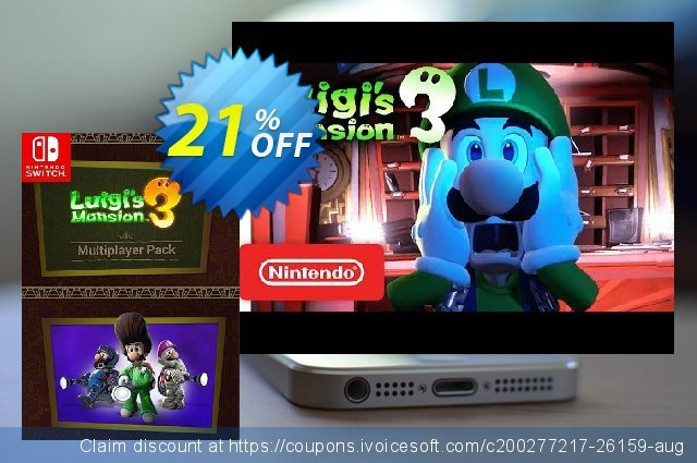 Luigi's Mansion 3 - Multiplayer Pack Switch discount 22% OFF, 2020 Christmas offering sales