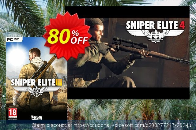 Sniper Elite 3 Afrika PC discount 92% OFF, 2021 Mother Day offering sales. Sniper Elite 3 Afrika PC Deal