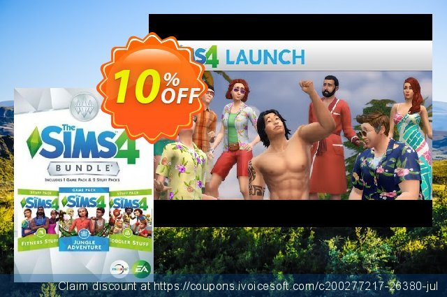The Sims 4 - Bundle Pack 6 PC discount 10% OFF, 2021 January offering sales