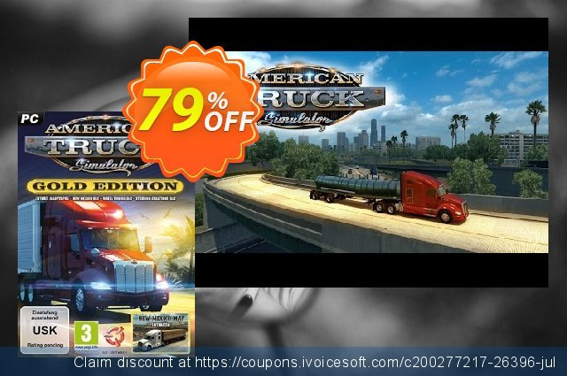 American Truck Simulator Gold Edition PC discount 40% OFF, 2021 New Year's Weekend offering sales