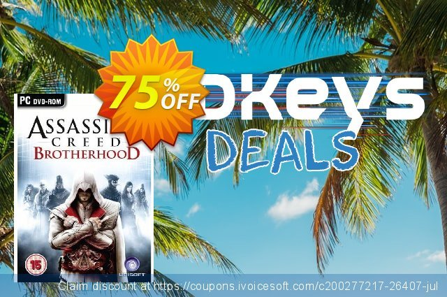 Assassin's Creed Brotherhood (PC) discount 68% OFF, 2021 Happy New Year offering sales
