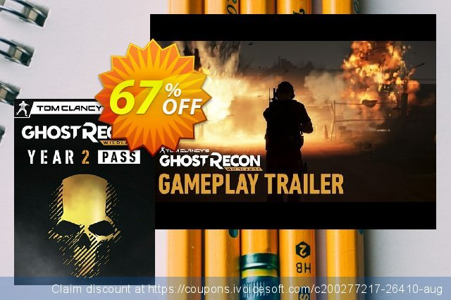 Tom Clancys Ghost Recon Wildlands - Year 2 Pass PC discount 48% OFF, 2021 New Year's Weekend promo