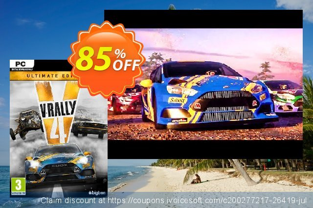 V-Rally 4 Ultimate Edition PC discount 85% OFF, 2021 New Year discounts