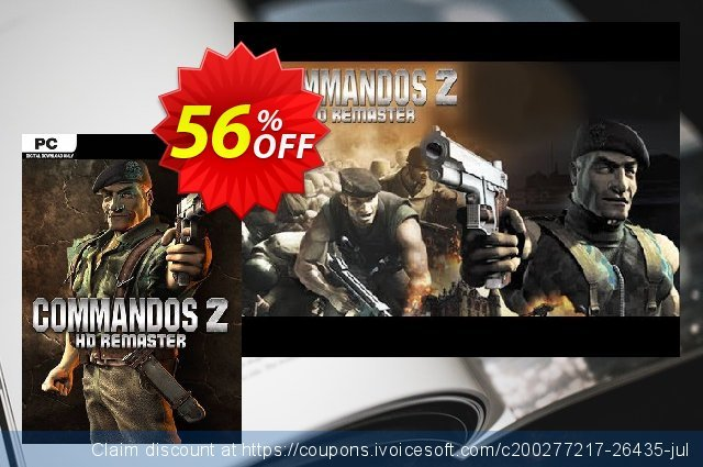 Commandos 2 - HD Remastered PC discount 43% OFF, 2021 Happy New Year offering sales