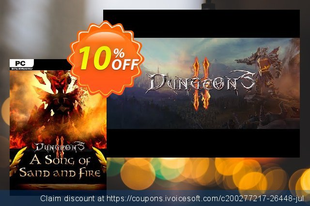 Dungeons 2 A Song of Sand and Fire PC discount 10% OFF, 2021 New Year's Day promo