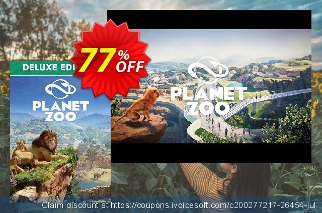 Planet Zoo - Deluxe Edition PC discount 15% OFF, 2020 Halloween offering discount