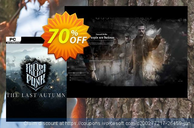 Frostpunk: The Last Autumn PC discount 47% OFF, 2020 Halloween offering sales