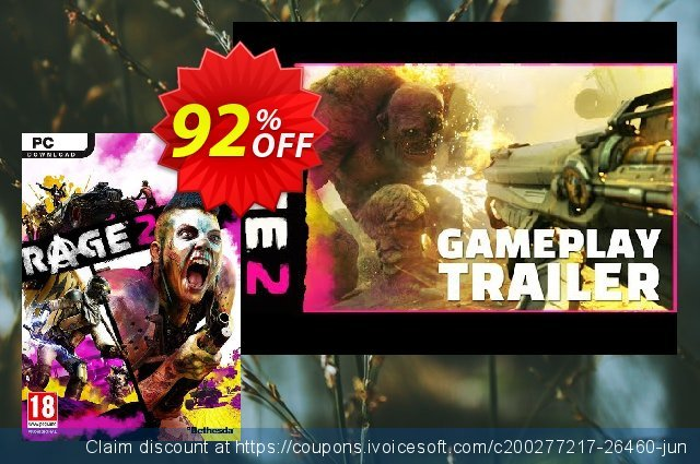 Rage 2 PC (Asia) + DLC discount 88% OFF, 2020 College Student deals offering sales