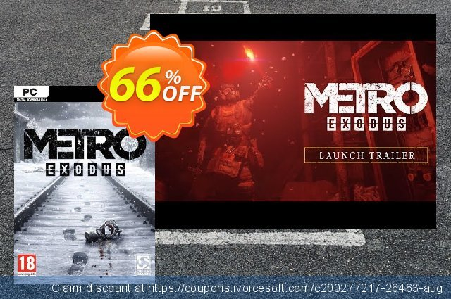 Metro Exodus PC discount 37% OFF, 2021 Happy New Year offering discount
