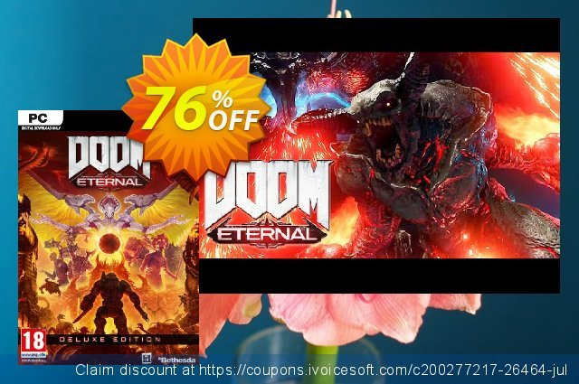 DOOM Eternal - Deluxe Edition PC (WW) + DLC discount 33% OFF, 2020 Back to School Promos offering sales
