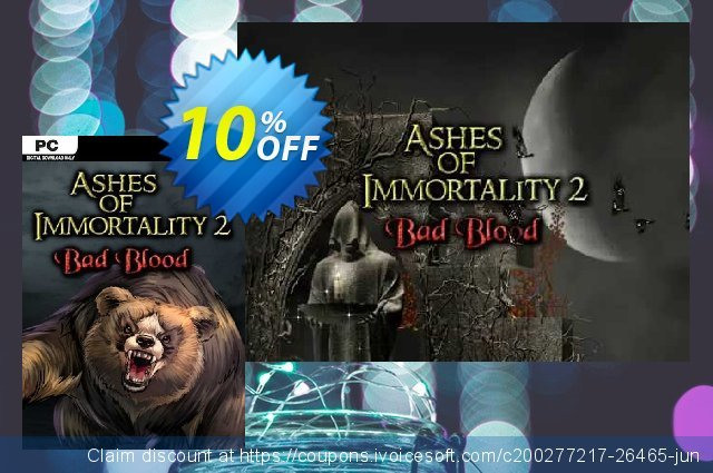 Ashes of Immortality II Bad Blood PC discount 10% OFF, 2021 Happy New Year offering deals
