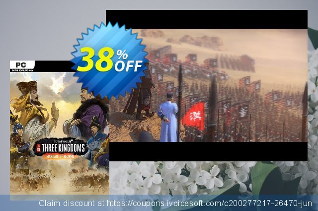 Total War Three Kingdoms PC - Mandate of Heaven DLC discount 13% OFF, 2021 Happy New Year offering sales