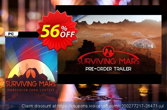 Surviving Mars: Marsvision Song Contest PC DLC discount 55% OFF, 2021 January offering sales