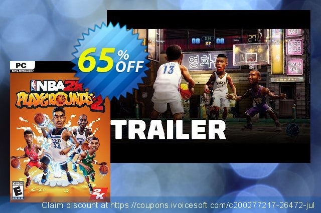 NBA 2K Playgrounds 2 PC discount 74% OFF, 2021 Happy New Year offering sales