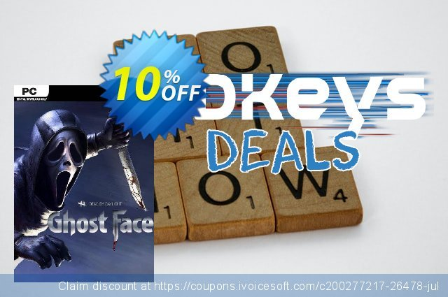 Dead by Daylight PC - Ghost Face DLC discount 10% OFF, 2021 World UFO Day offering deals. Dead by Daylight PC - Ghost Face DLC Deal