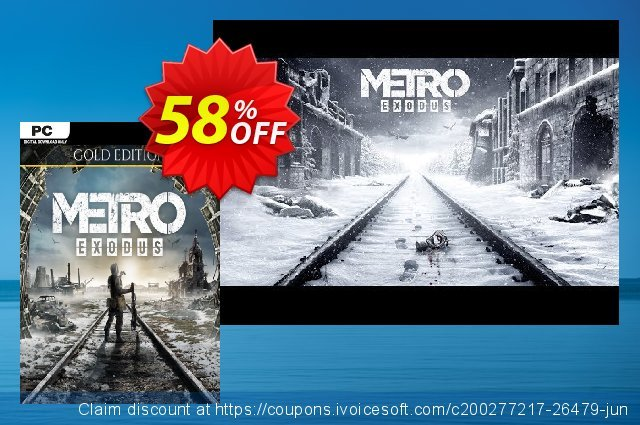 Metro Exodus - Gold Edition PC discount 47% OFF, 2021 Happy New Year deals