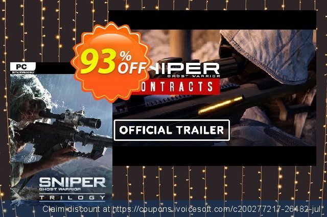 Sniper Ghost Warrior Trilogy PC discount 85% OFF, 2021 New Year offering discount